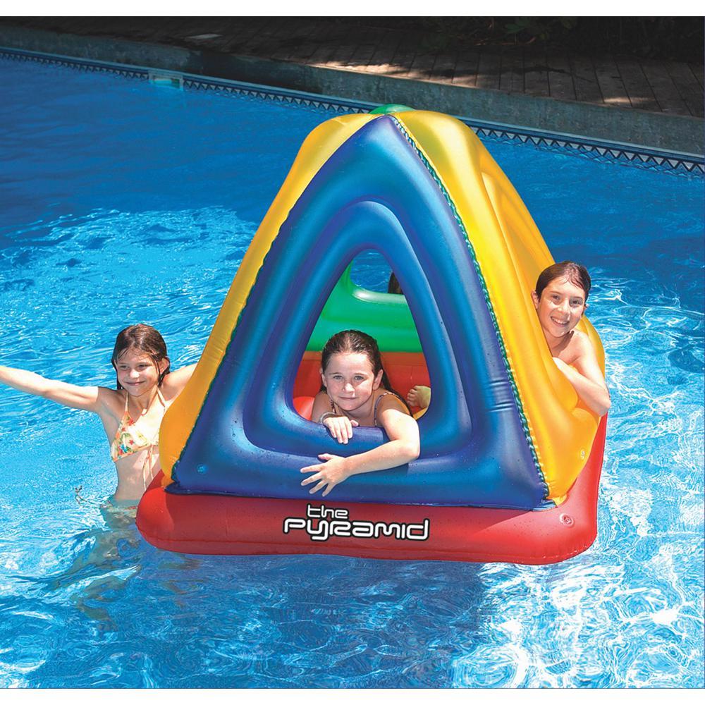 Swimline Pyramid Inflatable Floating Pool Habitat, Multi