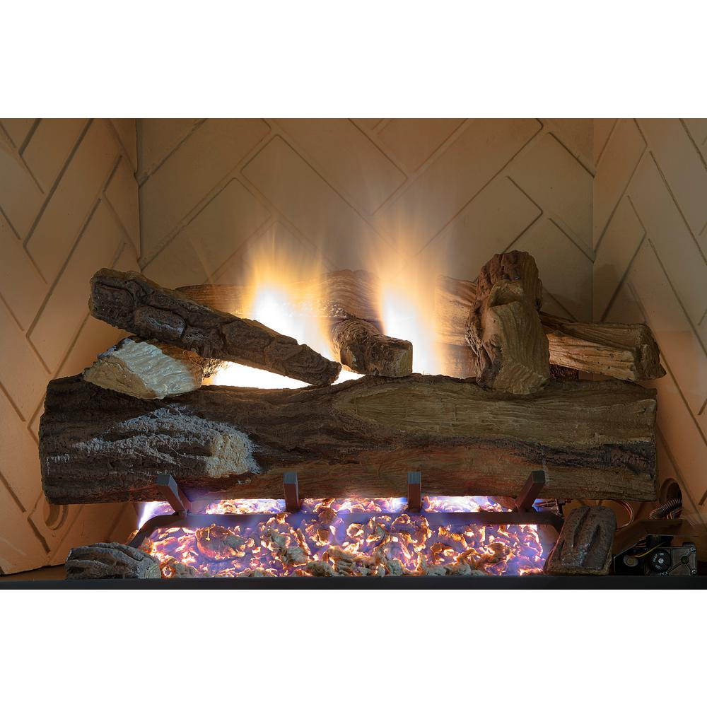 natural gas fireplace basement appalachian oak vented natural gas fireplace log set with remote emberglow 24 in