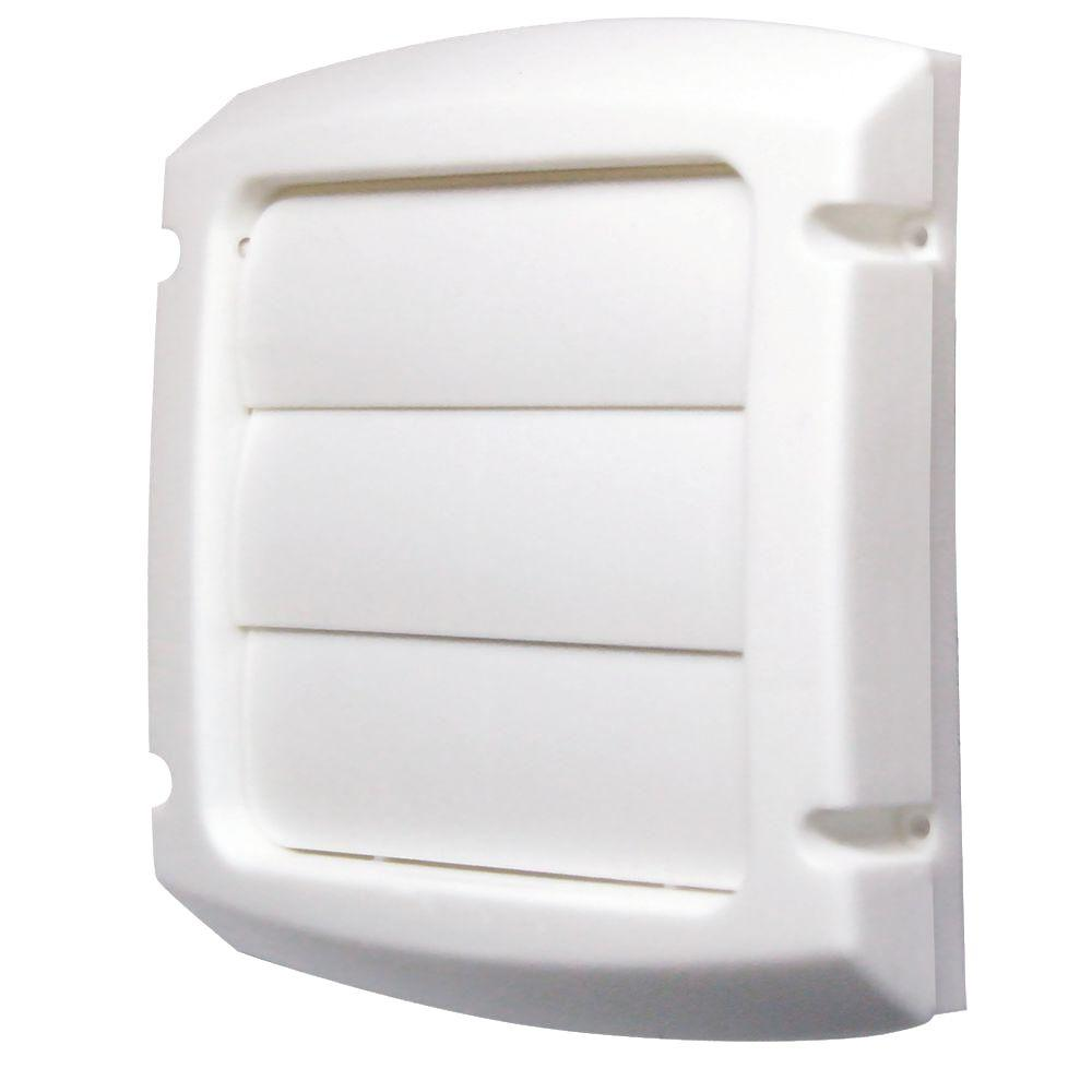 Everbilt 4 in. Louvered Vent Cap in White