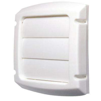 4 in  Louvered Vent Cap in White
