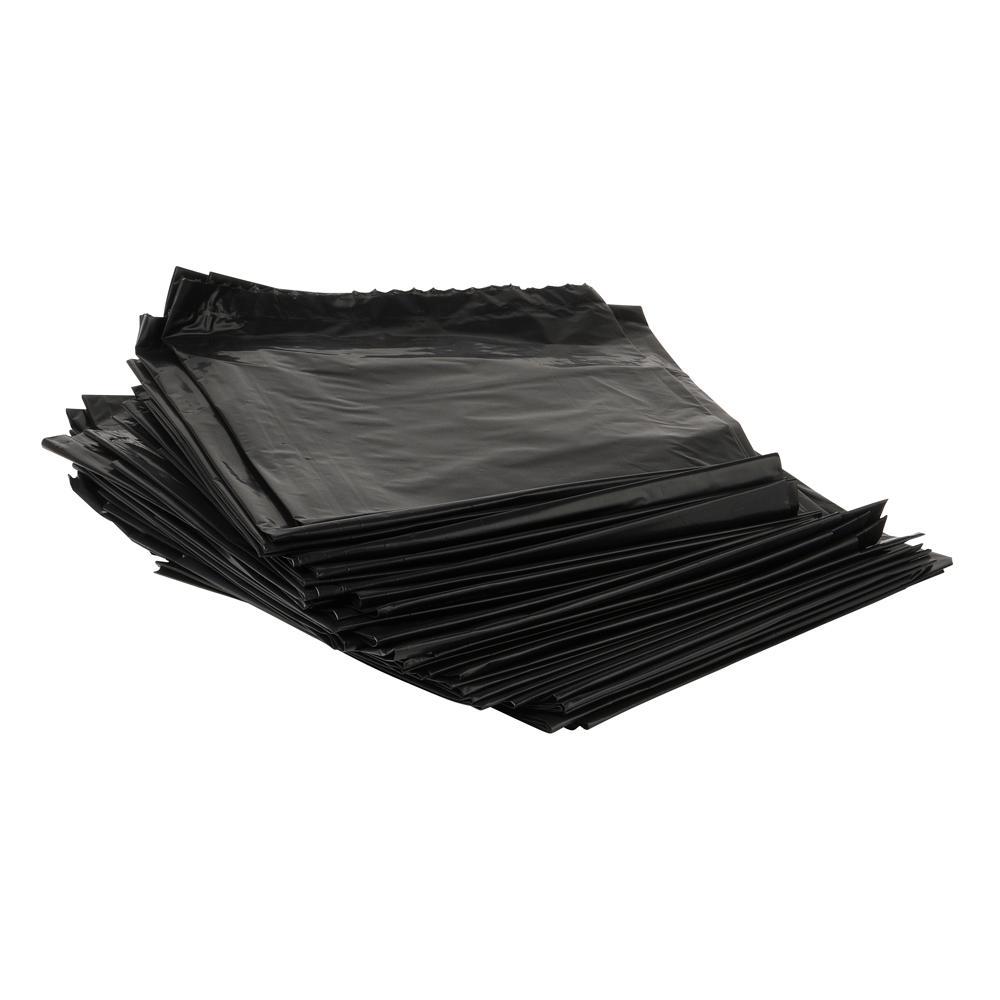 22 in. x 58 in. 1.5 mil 55 Gal. Black Low-Density Heavy-Duty Trash Bags (100 per Case)