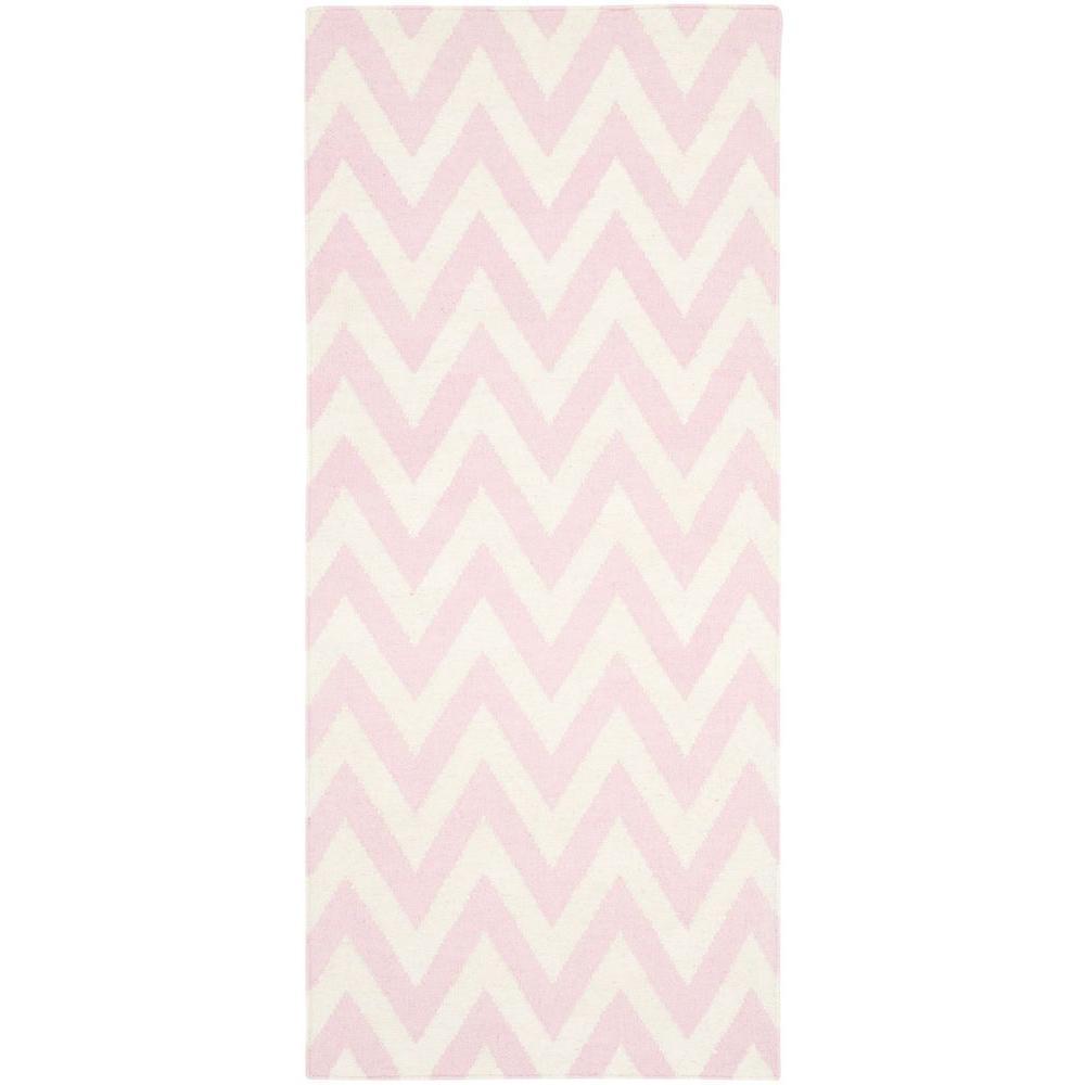 Safavieh Dhurries Pink Ivory 3 Ft X 10 Ft Runner Rug Dhu557p 210 The Home Depot