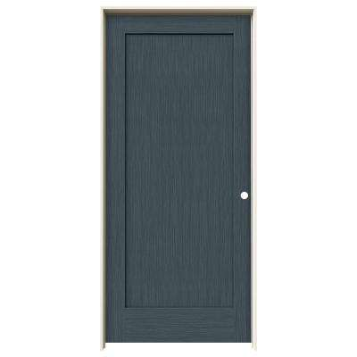 36 in. x 80 in. Madison Denim Stain Left-Hand Solid Core Molded Composite MDF Single Prehung Interior Door
