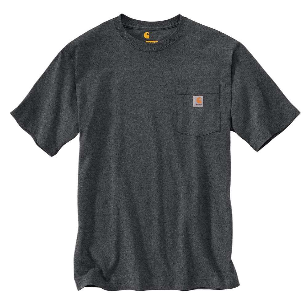 Men's Regular Medium Granite Heather Cotton/Polyester Short-Sleeve T-Shirt
