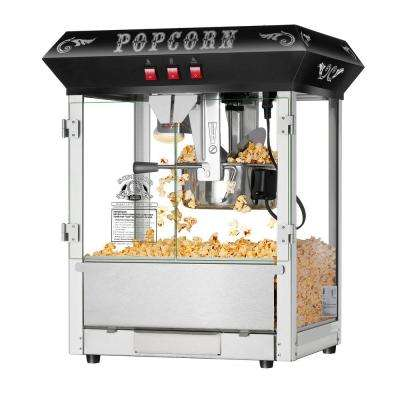 8 oz. Hot and Fresh Black Countertop Style Popcorn Popper