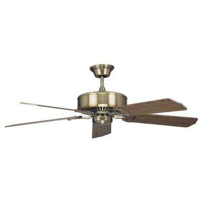 Shermer 60 in. Antique Brass Ceiling Fan with 5 Blades