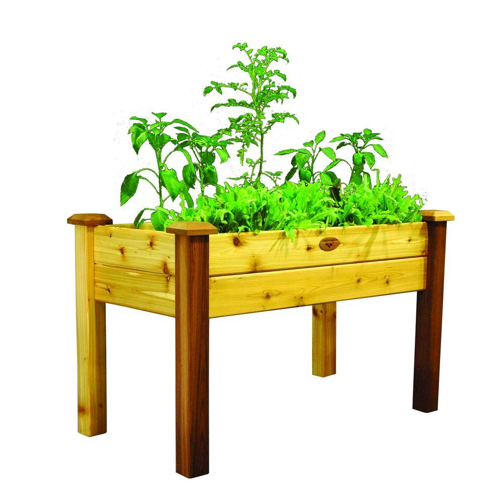 Gronomics 24 in. x 48 in. x 30 in. Safe Finish Elevated Garden Bed