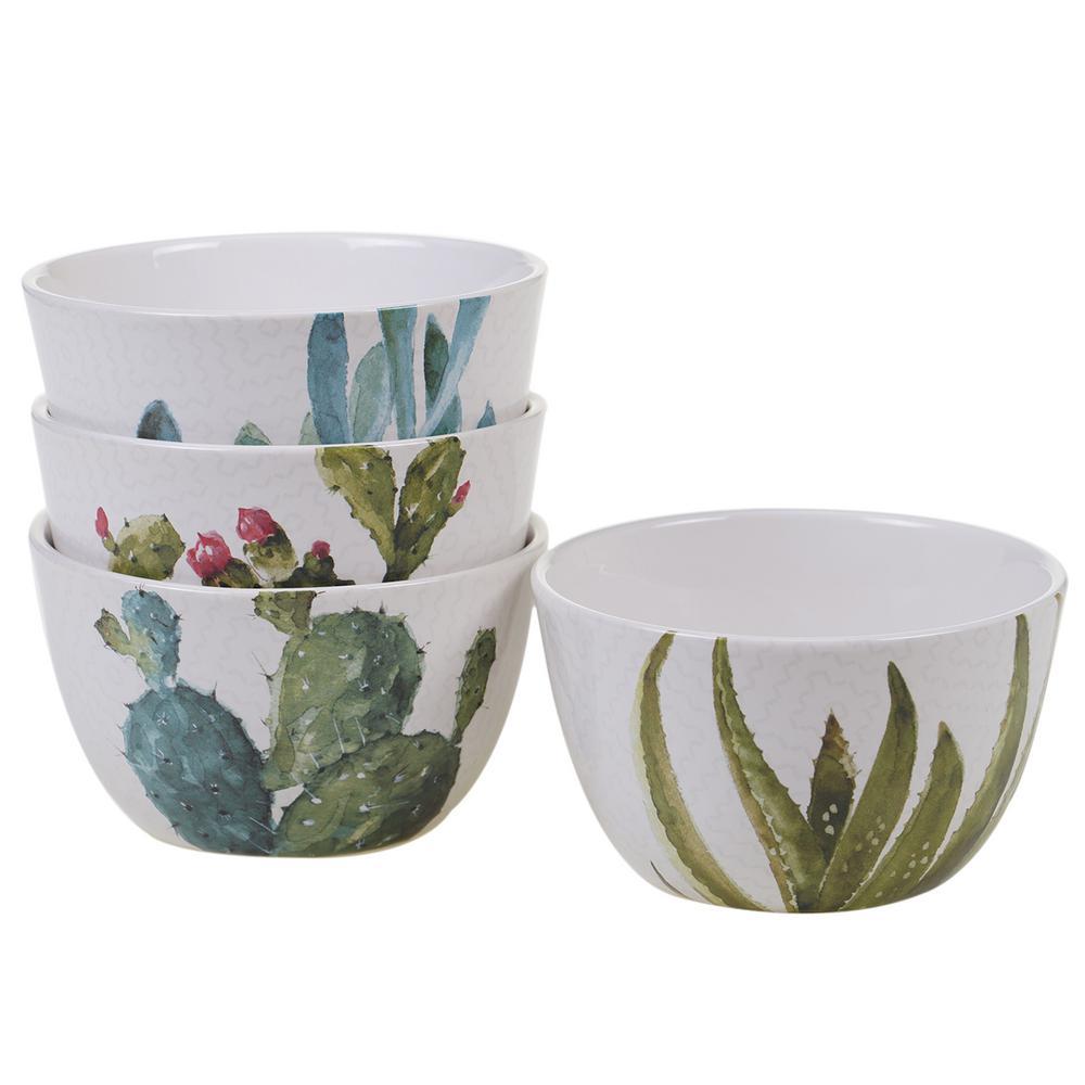 Certified International Cactus Verde Green Ice Cream Bowl (Set of 4)
