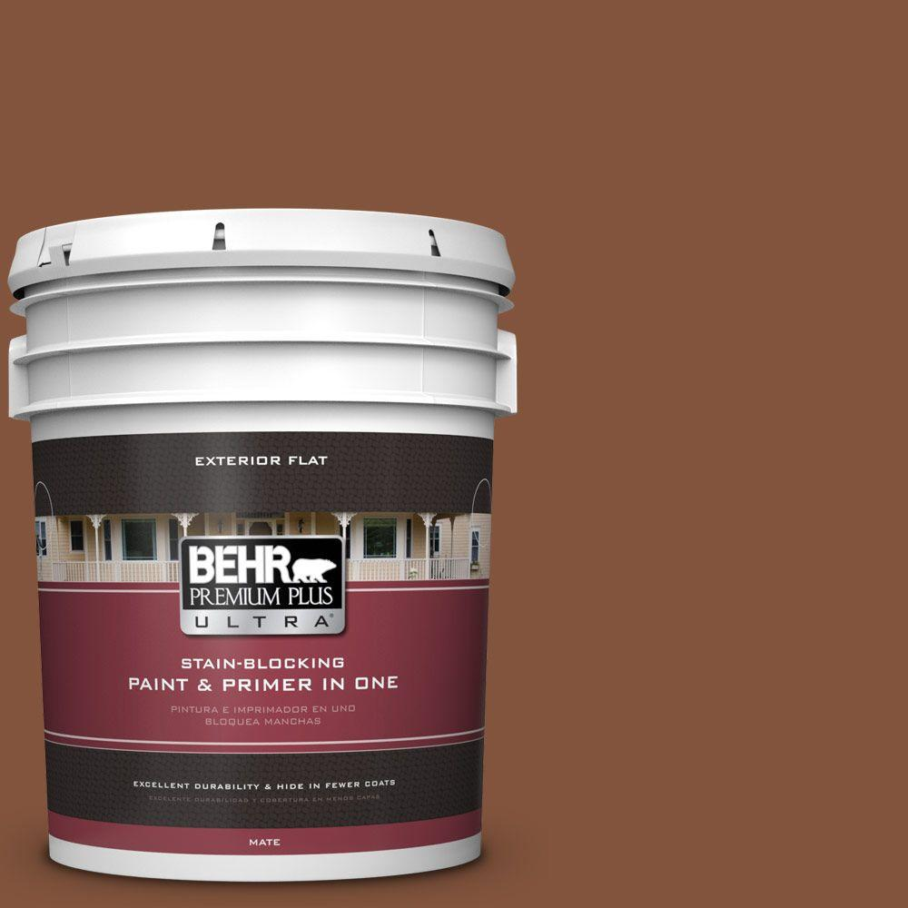 5-gal. #230F-7 Florence Brown Flat Exterior Paint