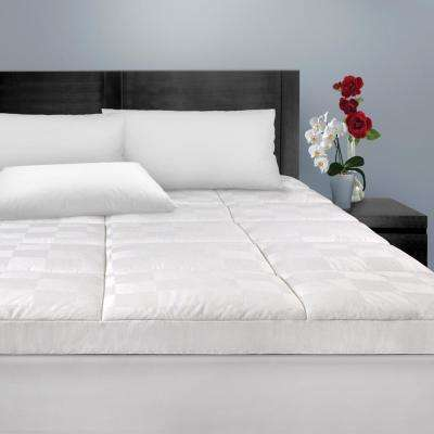 Luxury Euro-Top 500-Thread Count Twin Mattress Pad