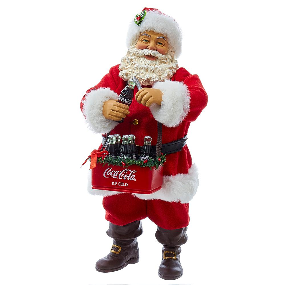 Coca Cola Kurt Adler 10 In Santa Opening Coke Tablepiece
