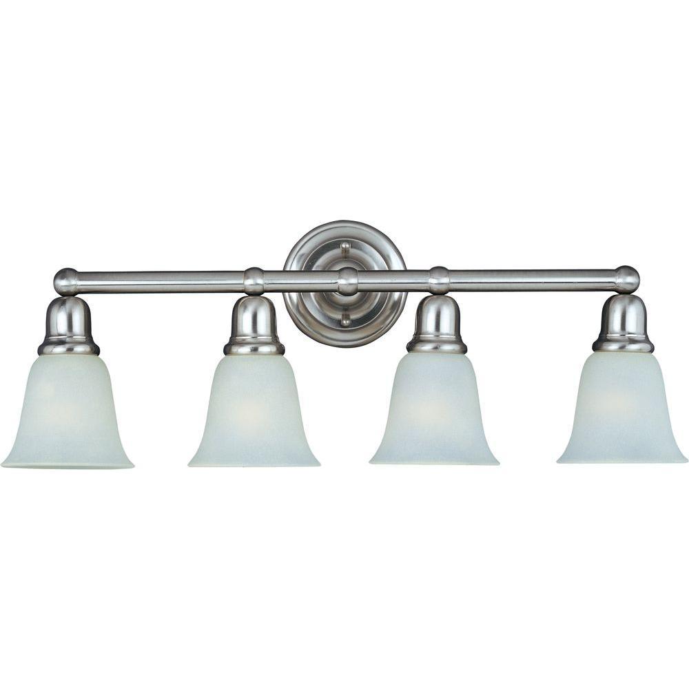 Bel Air 4-Light Satin Nickel Bath Vanity Light