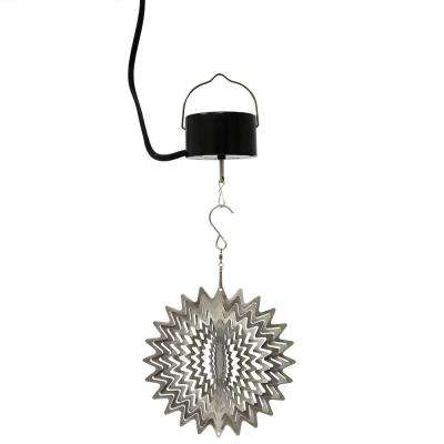 6 in. Silver Star Wind Spinner with Electric-Operated Motor