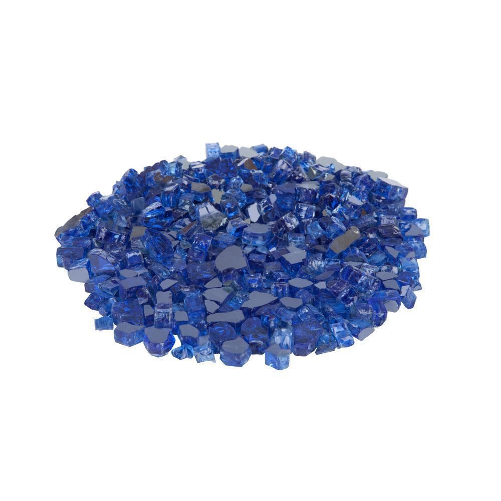 Fire Sense Sapphire Blue Reflective Fire Glass