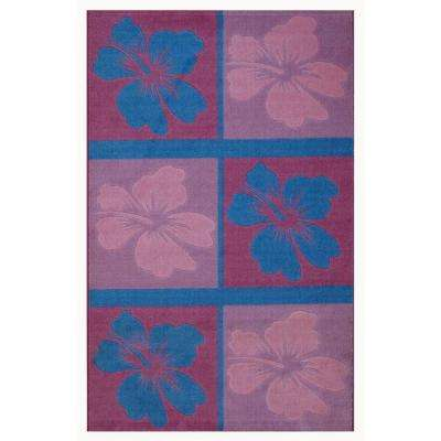 Supreme Hula Dream Multi Colored 39 in. x 58 in. Area Rug