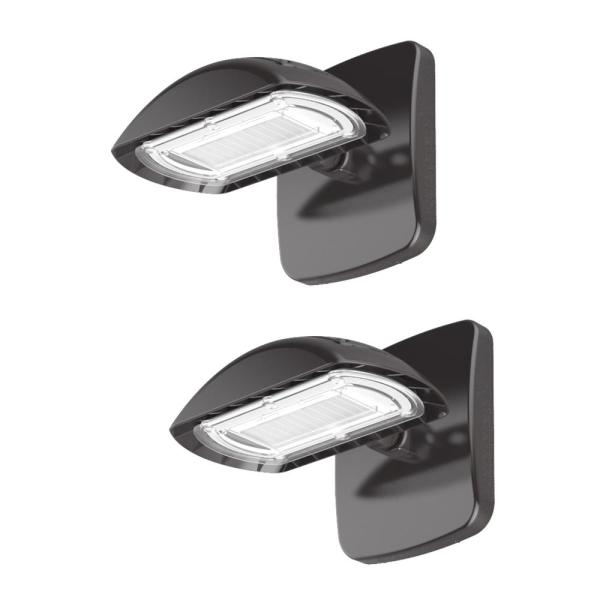 Multi-Purpose 100-Watt Equivalent Integrated Outdoor LED Flood Light with Wall Pack Mount, 1500 Lumens (2-Pack)