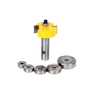 Rabbet with 6 Bearing 1/2 in. Shank Carbide Tipped Router Bit