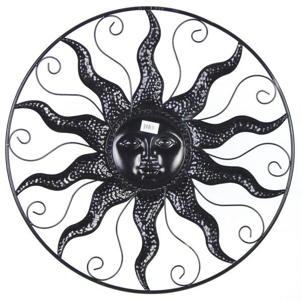 Sun Wall Art 25 In Steel Bronze Sun Decorative Wall Art Gi418ws2 The Home Depot