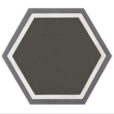 Cemento Hex Holland Passage 7-7/8 in. x 9 in. Cement Handmade Floor and Wall Tile