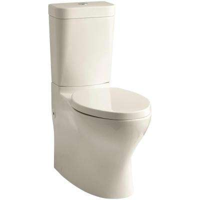 Persuade Circ 2-piece 1.0 or 1.6 GPF Dual Flush Elongated Toilet in Almond