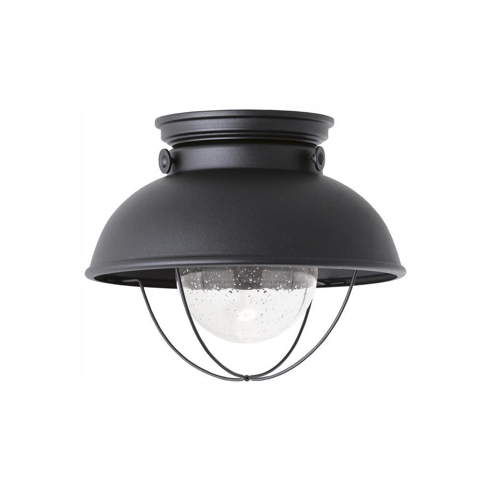 Sea Gull Lighting Sebring Black Integrated LED Outdoor ...
