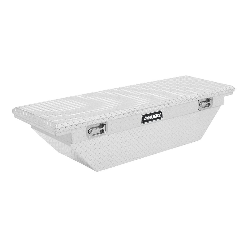 Husky 62 in. Aluminum Polished Mid Sized Low Profile Truck Box