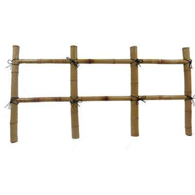 24 in. H x 60 in. L Bamboo Post and Rail Fence