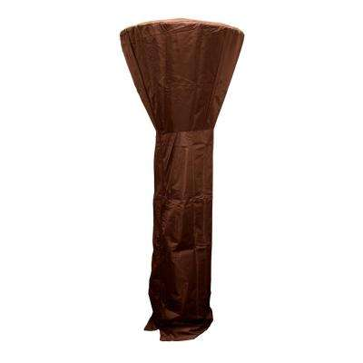 87 in. Heavy Duty Mocha Tall Heater Cover for 33 in. Shield