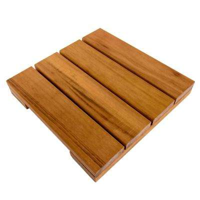 WiseTile 1 ft. x 1 ft. Solid Hardwood Deck Tile in Exotic Tigerwood (4 per case)