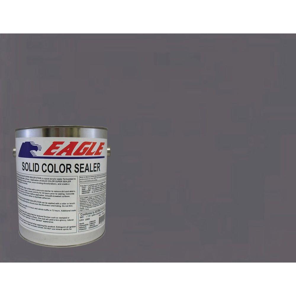 1 gal. Silver Gray Solid Color Solvent Based Concrete Sealer