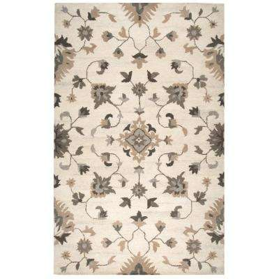 Suffolk Ivory Floral 3 ft. x 5 ft. Area Rug