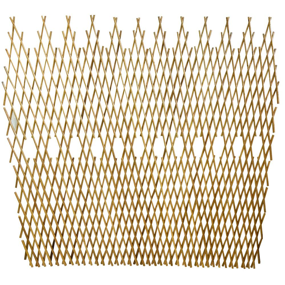 48 in. H Peeled Willow Picket Fence Pattern Fence