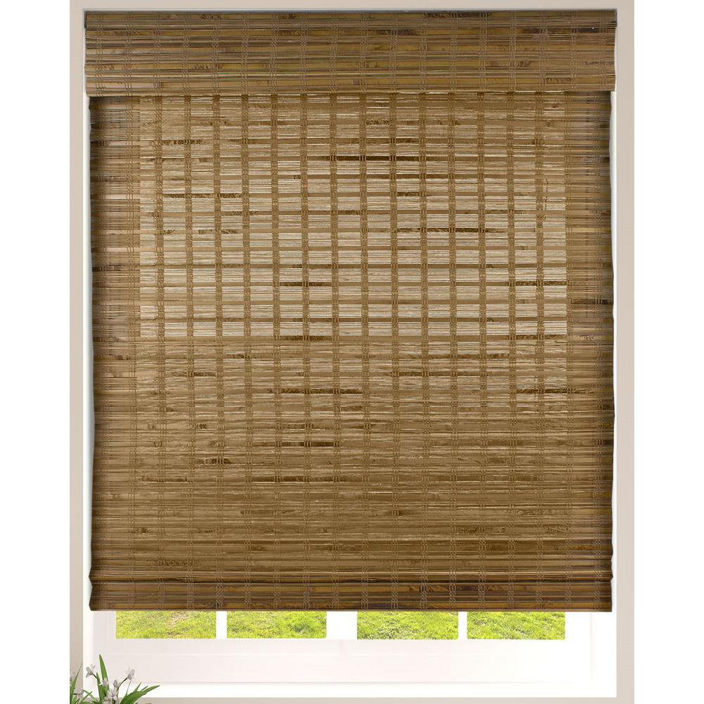 Arlo Blinds Dali Native Cordless Light Filtering Bamboo Woven Roman Shade  12 in.W x 12 in. L Actual Size