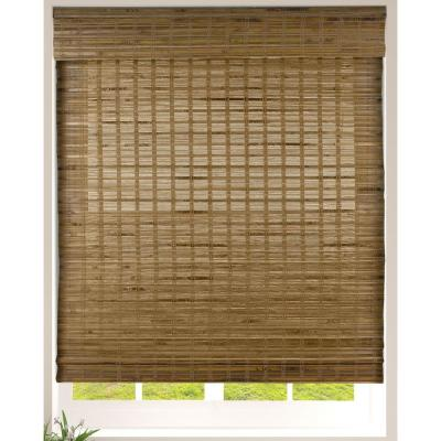 Dali Native Cordless Light Filtering Bamboo Woven Roman Shade 34.5 in.W x 60 in. L (Actual Size)