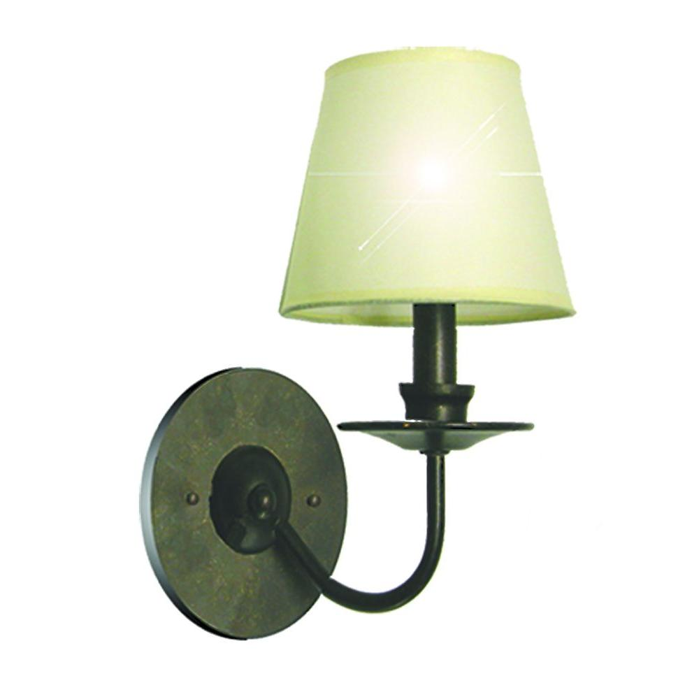 Marquis Lighting 1-Light Old English Bronze Sconce