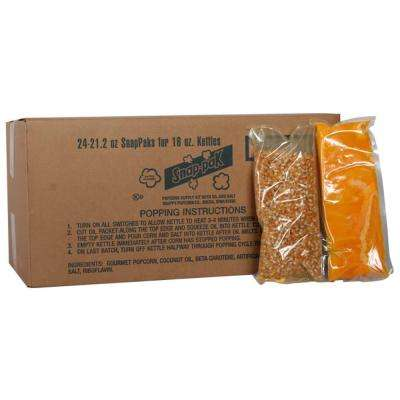 21 oz. Yellow Popcorn, Oil and Seasoning Kit for 14 and 16 oz. Poppers (24-Pack)