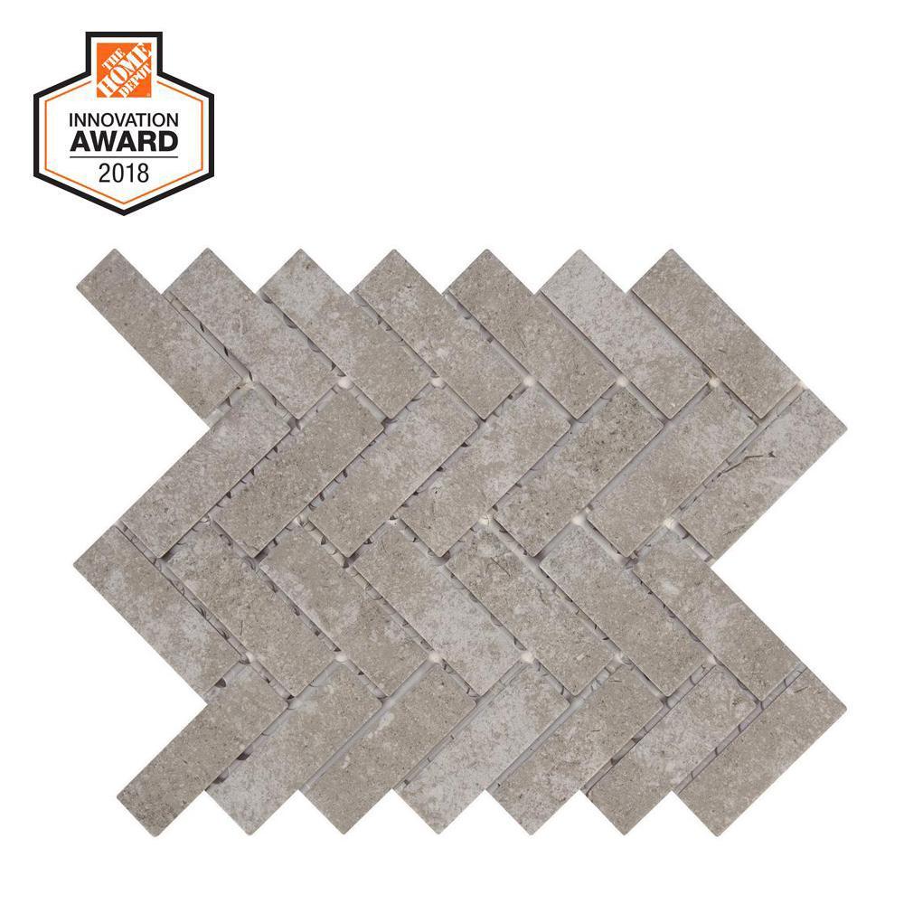 Quartzite 9 in. x 12 in. x 6.35mm Glazed Ceramic Mosaic Tile