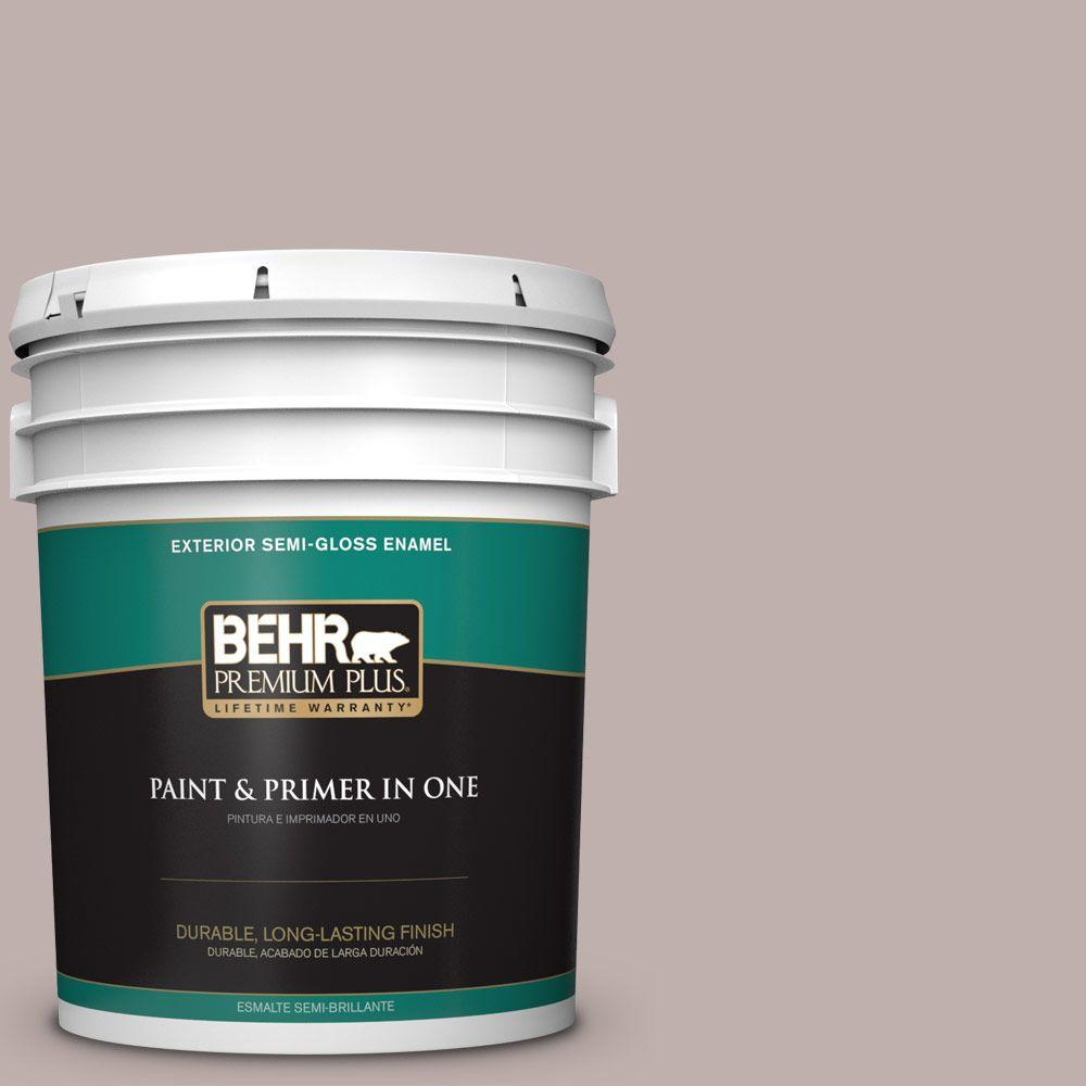 BEHR Premium Plus 5-gal. #740A-3 Oak Ridge Semi-Gloss Enamel Exterior Paint