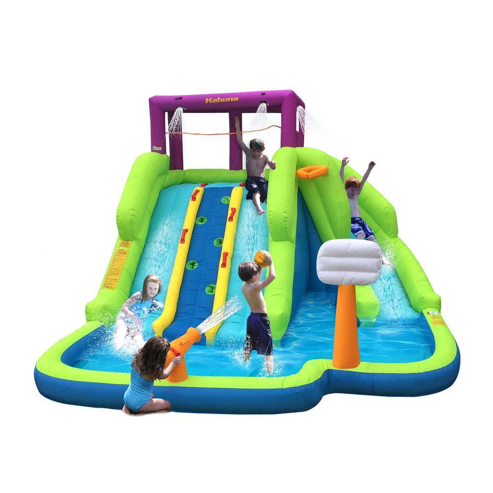 Triple Blast Kids Inflatable Splash Pool Backyard Water