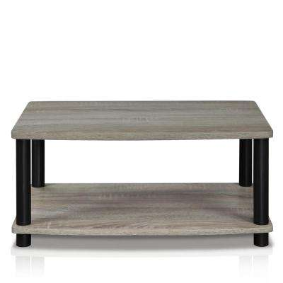Turn-N-Tube French Oak Grey Elevated TV Stand