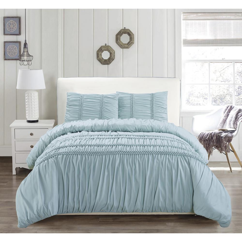 Emilia 6-Piece Ether-Blue King Comforter Set