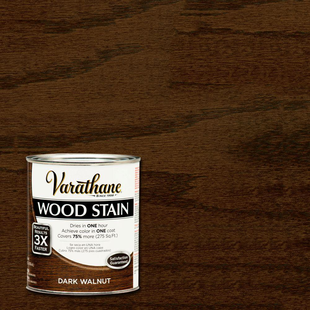 Varathane 1 Qt 3x Dark Walnut Premium Wood Stain 2 Pack 266167 The Home Depot