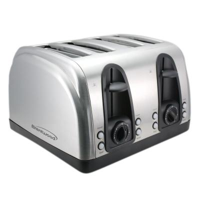 4-Slice Brushed Stainless Steel Toaster