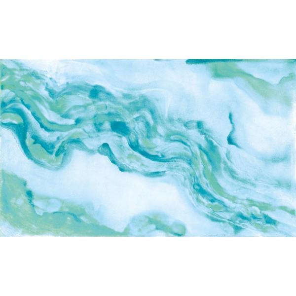 York Wallcoverings Urban Chic Georgia Aqua and Pale Blue Abstract Strippable Wallpaper