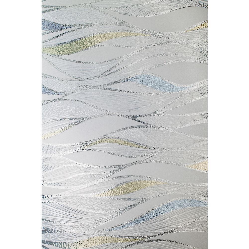24 in. x 36 in. Waterlines Decorative Window Film
