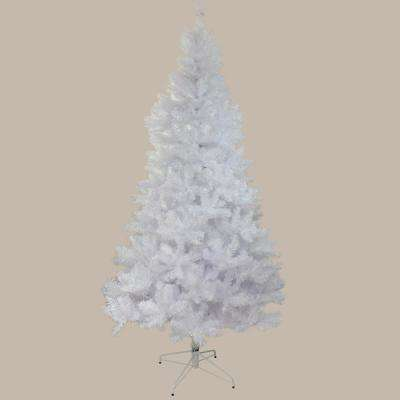 9.5 ft. x 64 in. Unlit White Glimmer Iridescent Spruce Full Artificial Christmas Tree