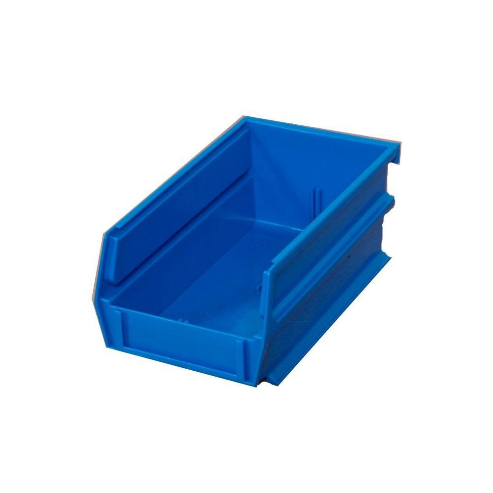 .301-Gal. Stacking, Hanging, Interlocking Polypropylene Storage Bins in Blue (24-Pack)