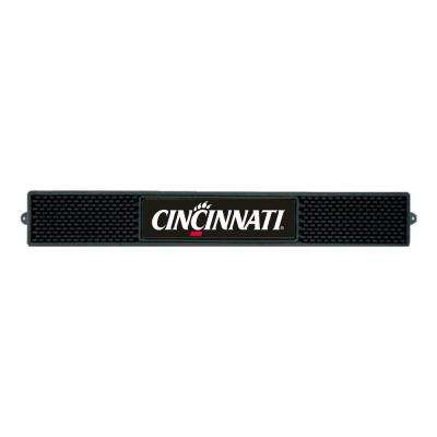 NCAA- 3.25 in. x 24 in. Black University of Cincinnati Drink Mat