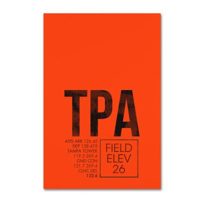 """30 in. x 47 in. """"TPA ATC"""" by 08 Left Canvas Wall Art"""
