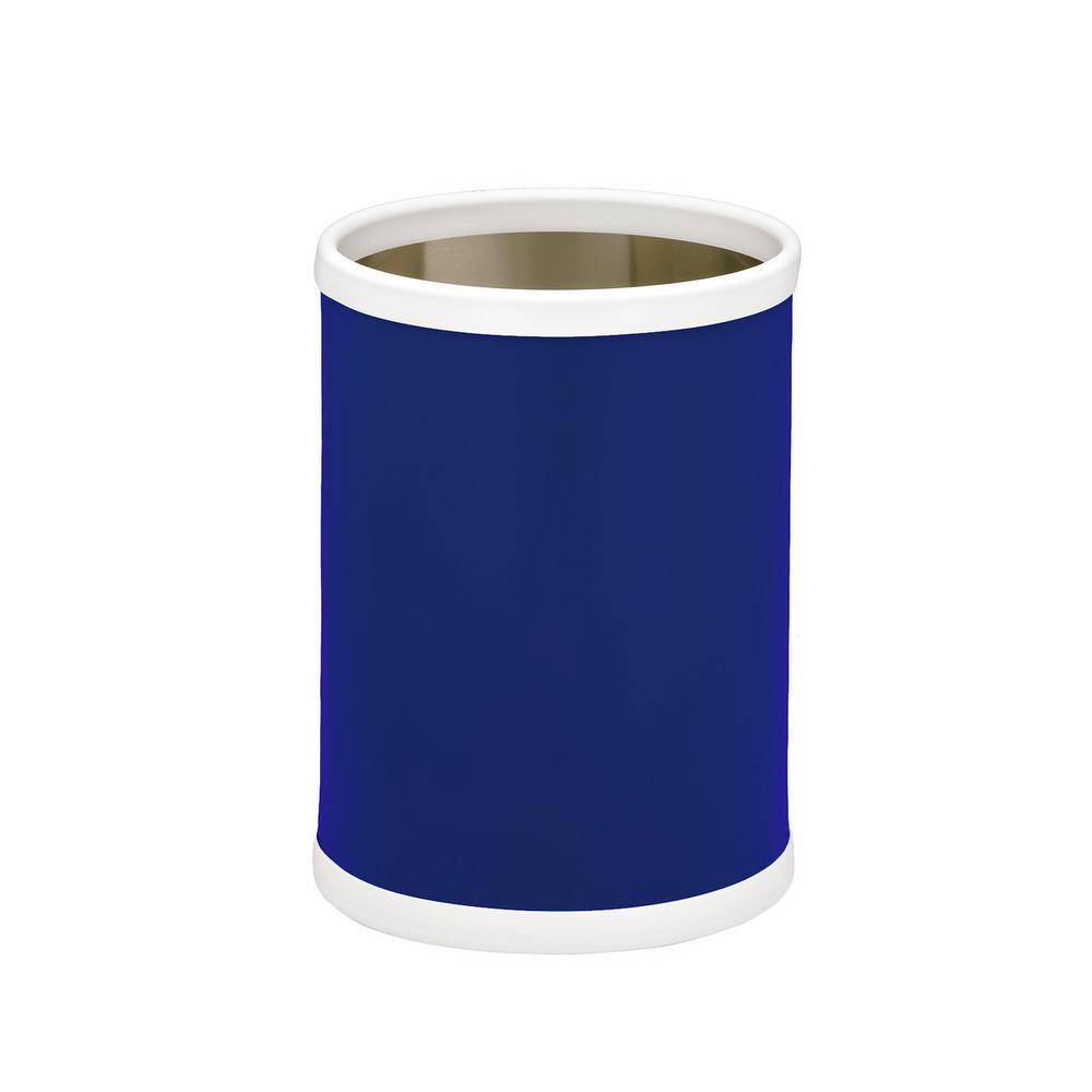 Bartenders Choice Fun Colors Royal Blue 8 Qt. Round Waste Basket